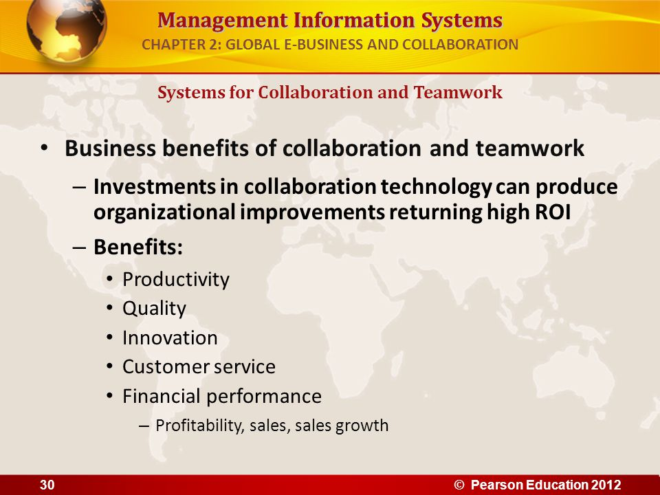 Collaborative Teaching Benefits ~ Global e business and collaboration ppt download