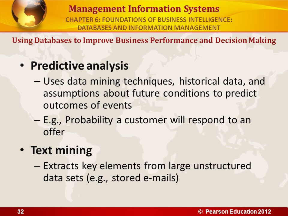 Using Databases to Improve Business Performance and Decision Making