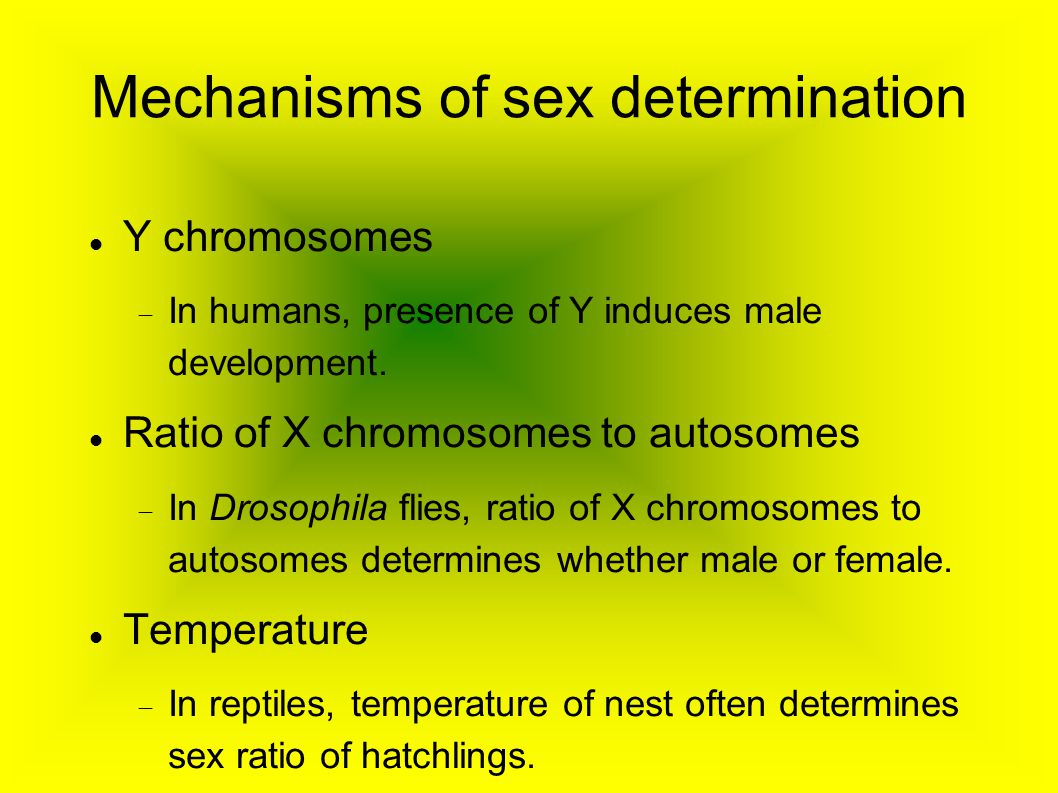 Mechanisms of sex determination