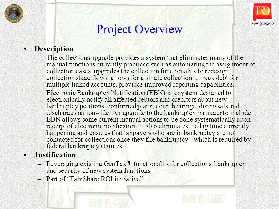 Project Overview Description Justification