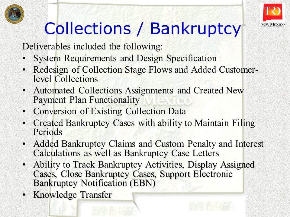 Collections / Bankruptcy