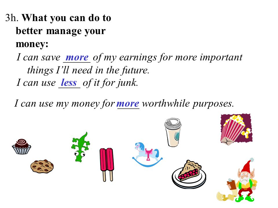 3h. What you can do to better manage your money: