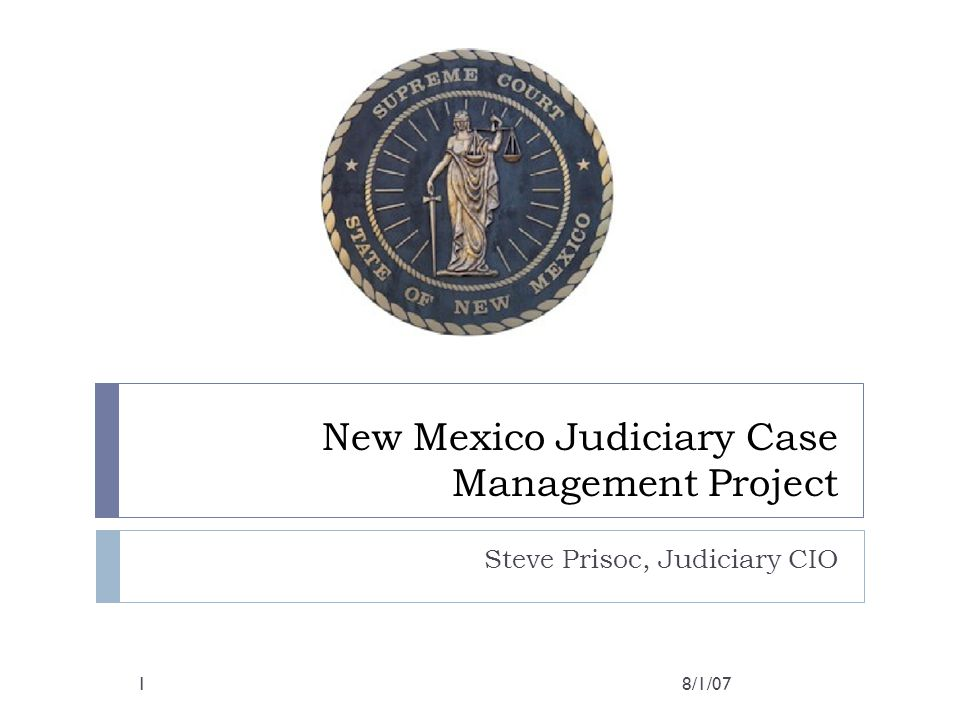 New Mexico Judiciary Case Management Project