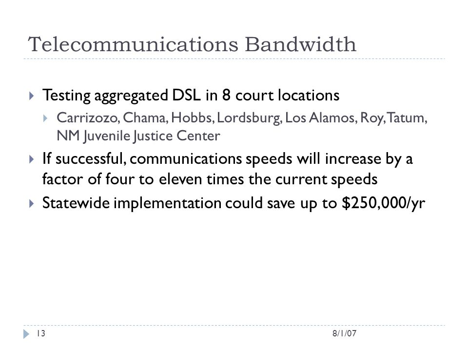 Telecommunications Bandwidth