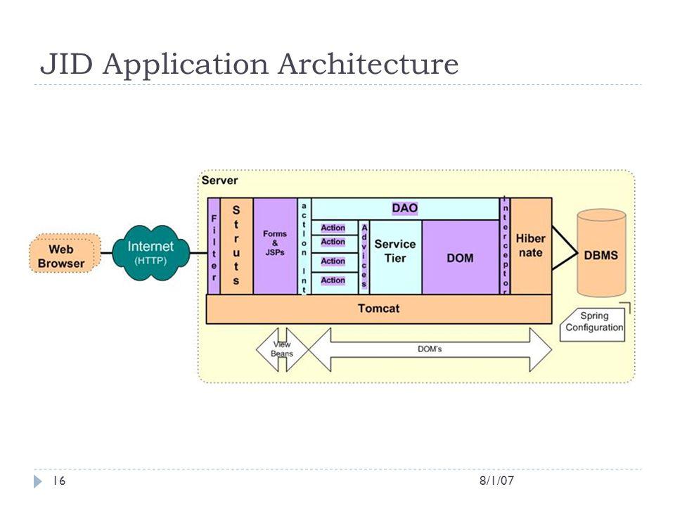 JID Application Architecture