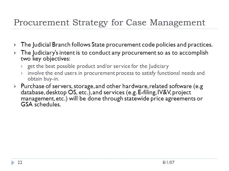 Procurement Strategy for Case Management
