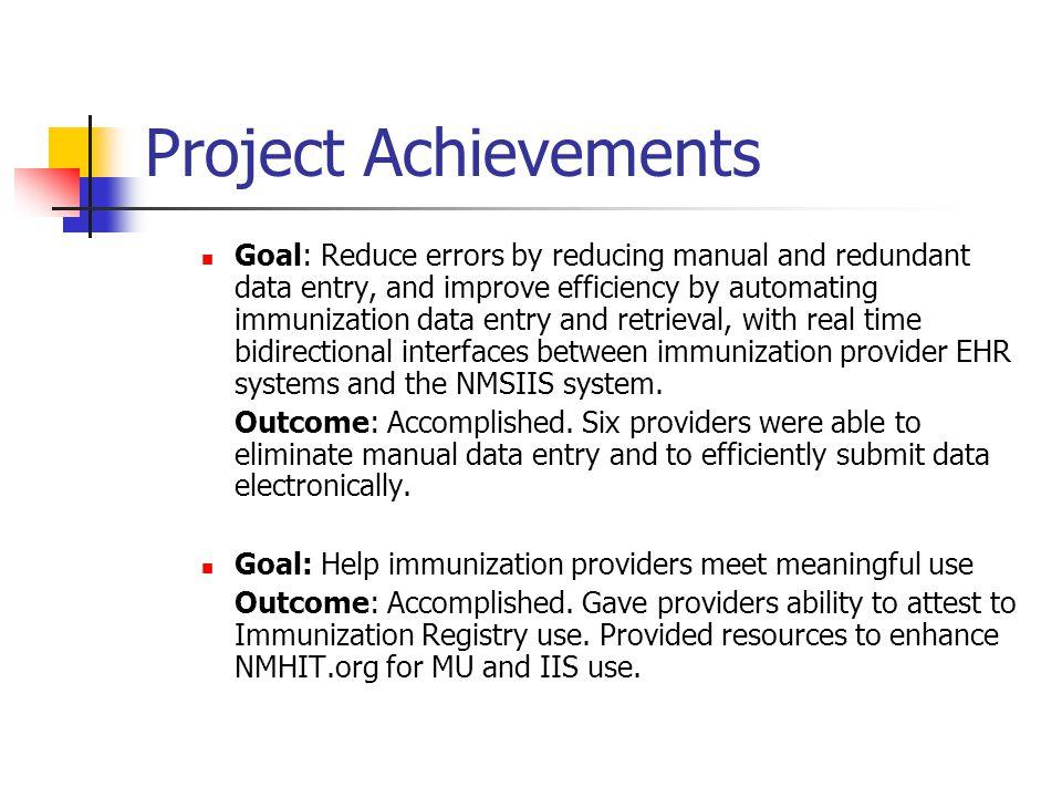 Project Achievements