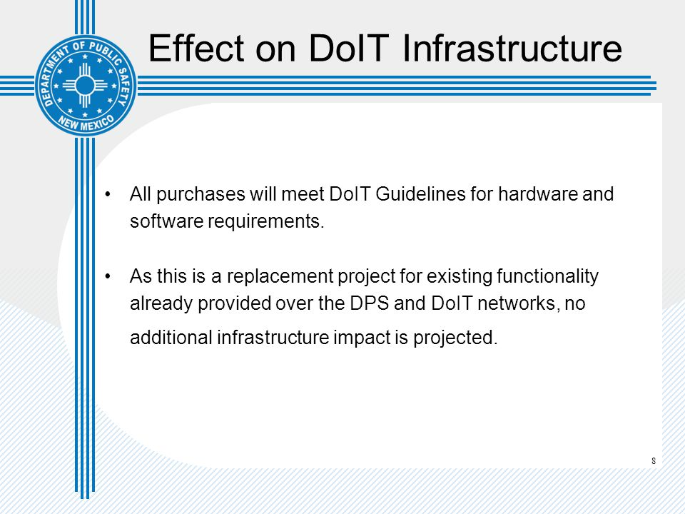 Effect on DoIT Infrastructure