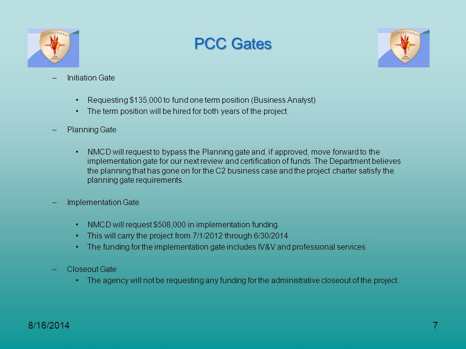 PCC Gates 4/5/2017 Initiation Gate