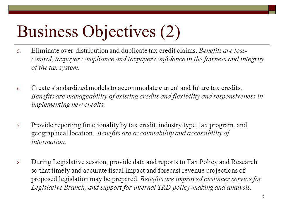 Business Objectives (2)