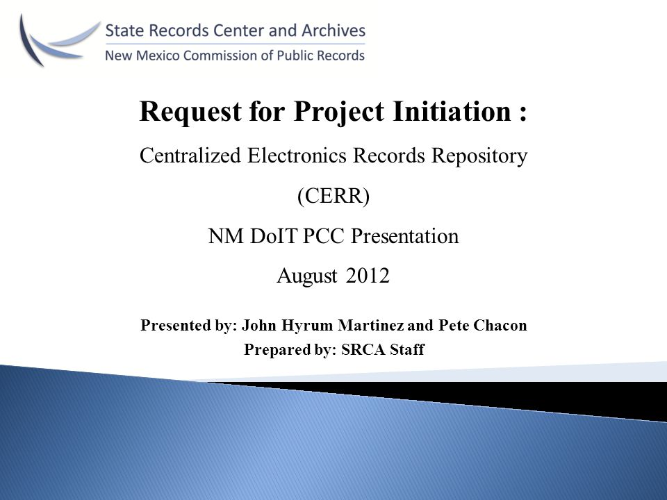 Request for Project Initiation :