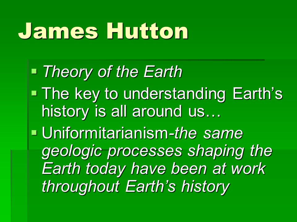 James Hutton Theory of the Earth