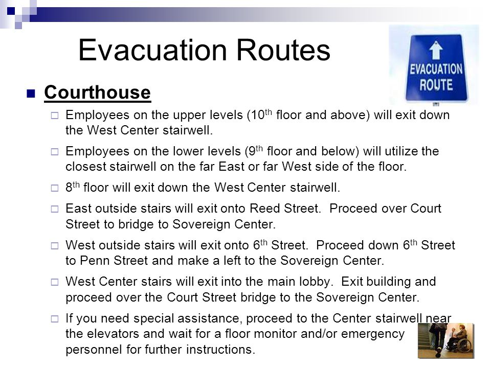 Evacuation Routes Courthouse