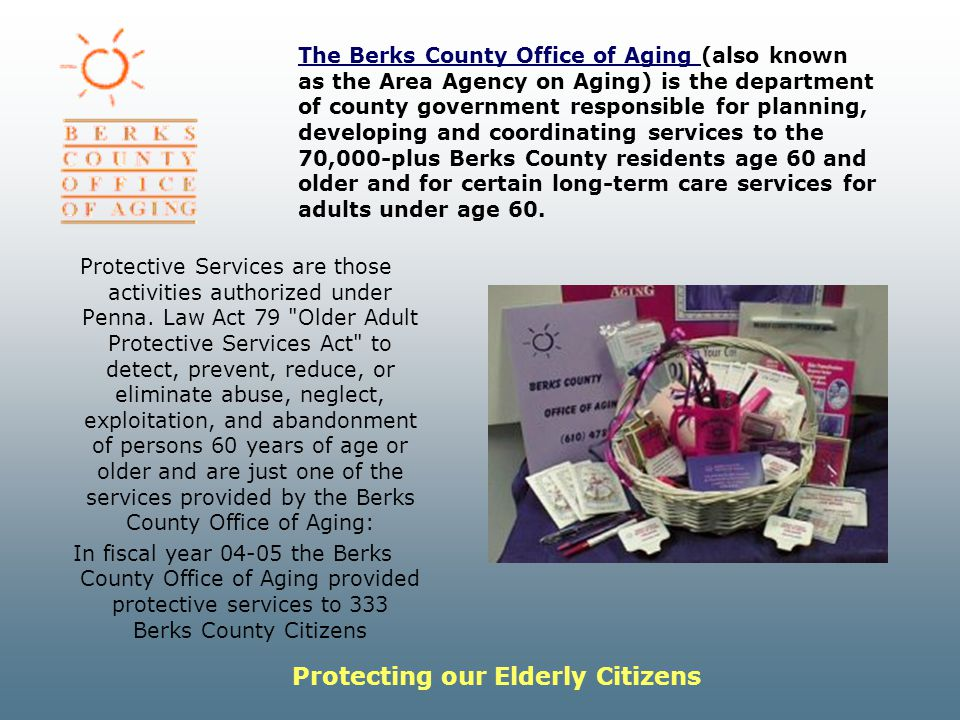 Protecting our Elderly Citizens