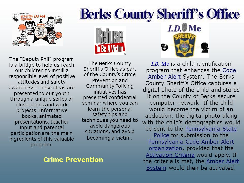The Deputy Phil program is a bridge to help us reach our children to instill a responsible level of positive attitudes and safety awareness. These ideas are presented to our youth through a unique series of illustrations and work projects. Informative books, animated presentations, teacher input and parental participation are the main ingredients of this valuable program.
