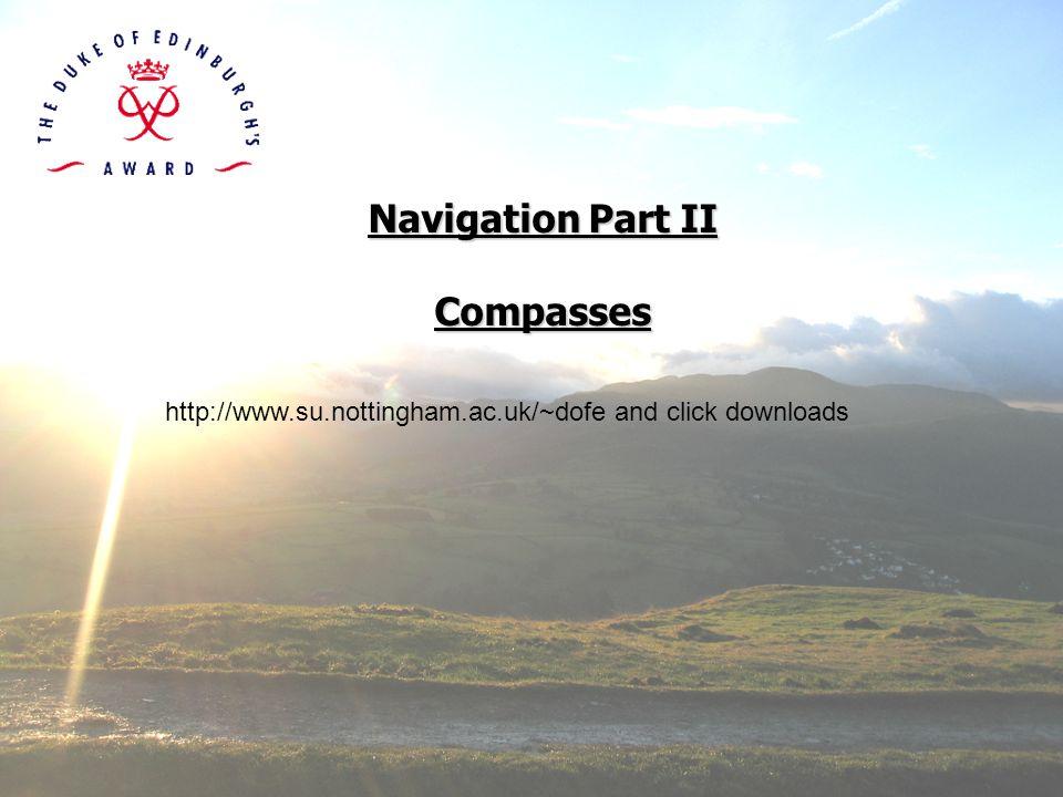 Navigation Part II Compasses