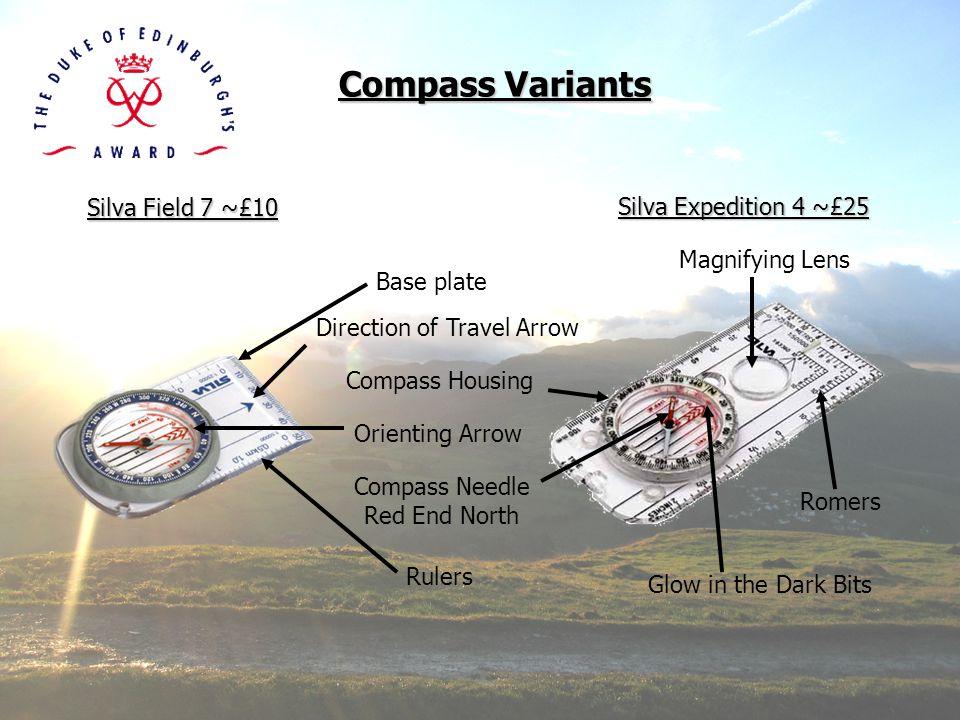 Compass Variants Silva Field 7 ~£10 Silva Expedition 4 ~£25