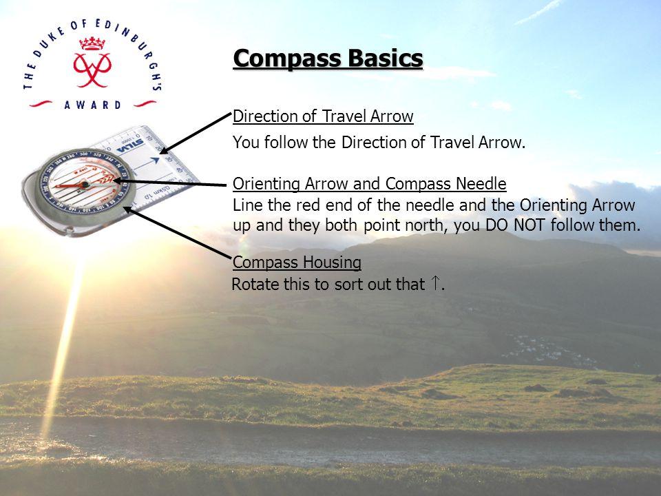 Compass Basics Direction of Travel Arrow