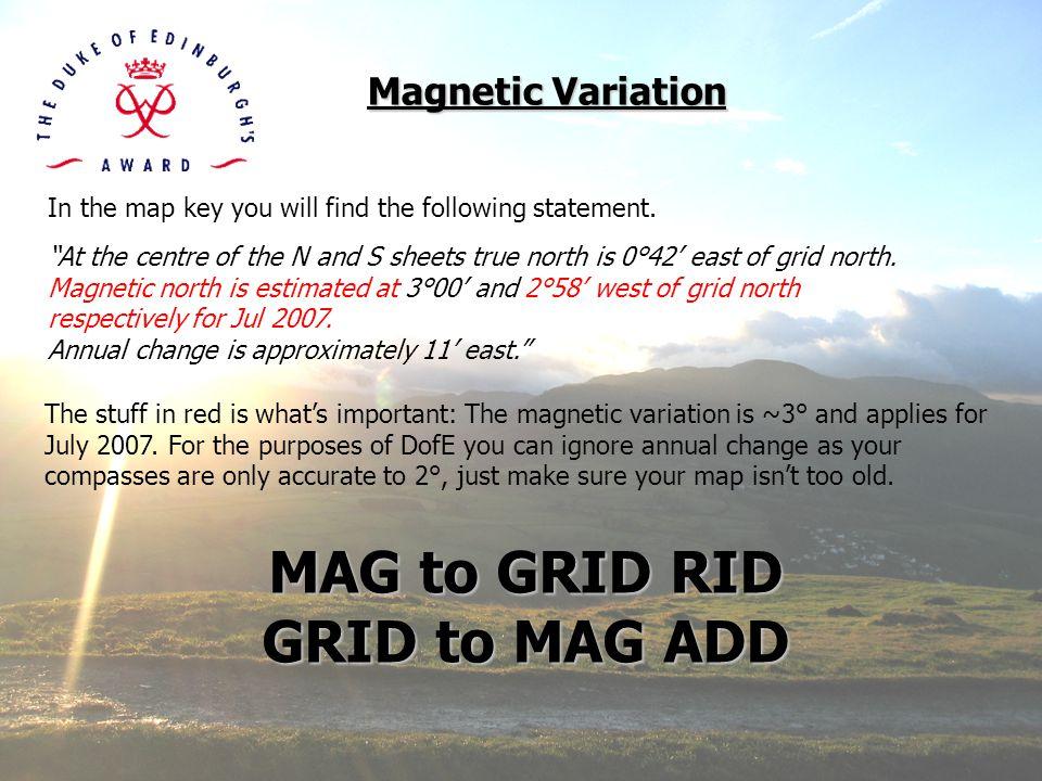 MAG to GRID RID GRID to MAG ADD