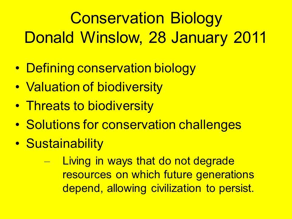 Donald Winslow, 28 January 2011
