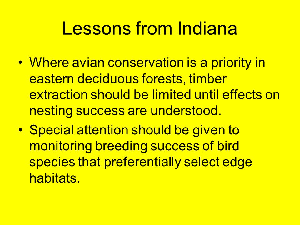 Lessons from Indiana