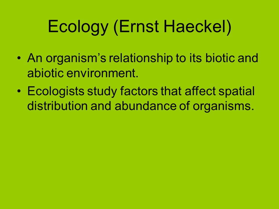 Ecology (Ernst Haeckel)