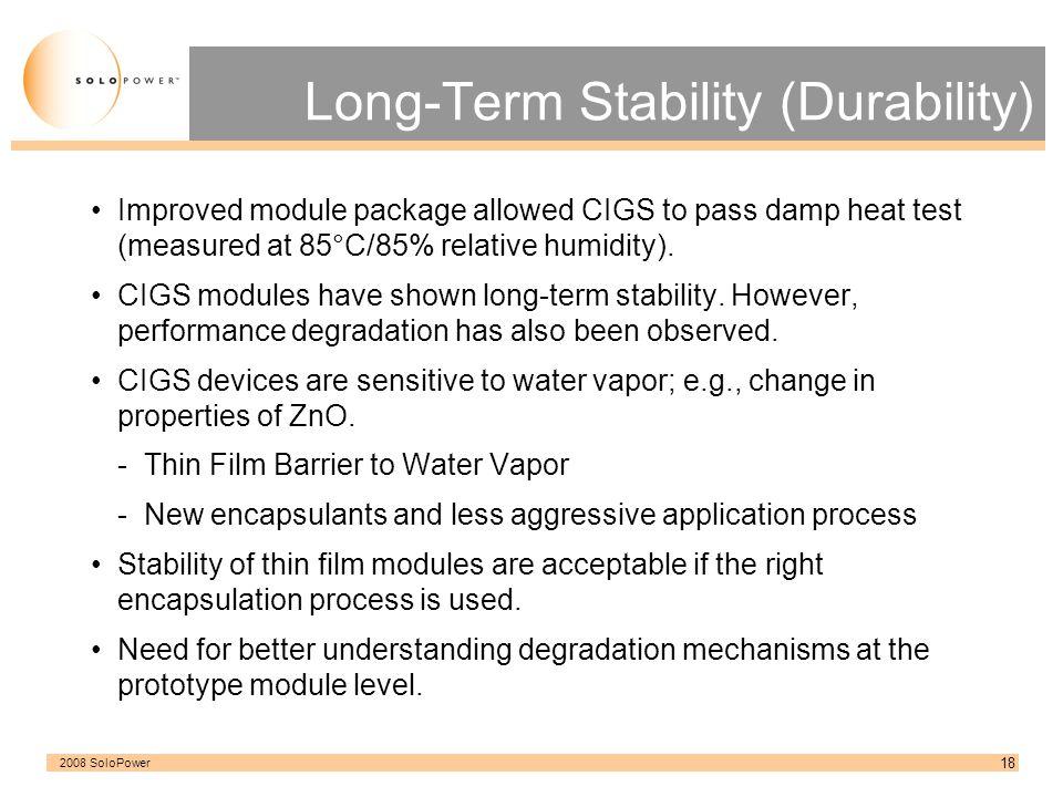 Long-Term Stability (Durability)