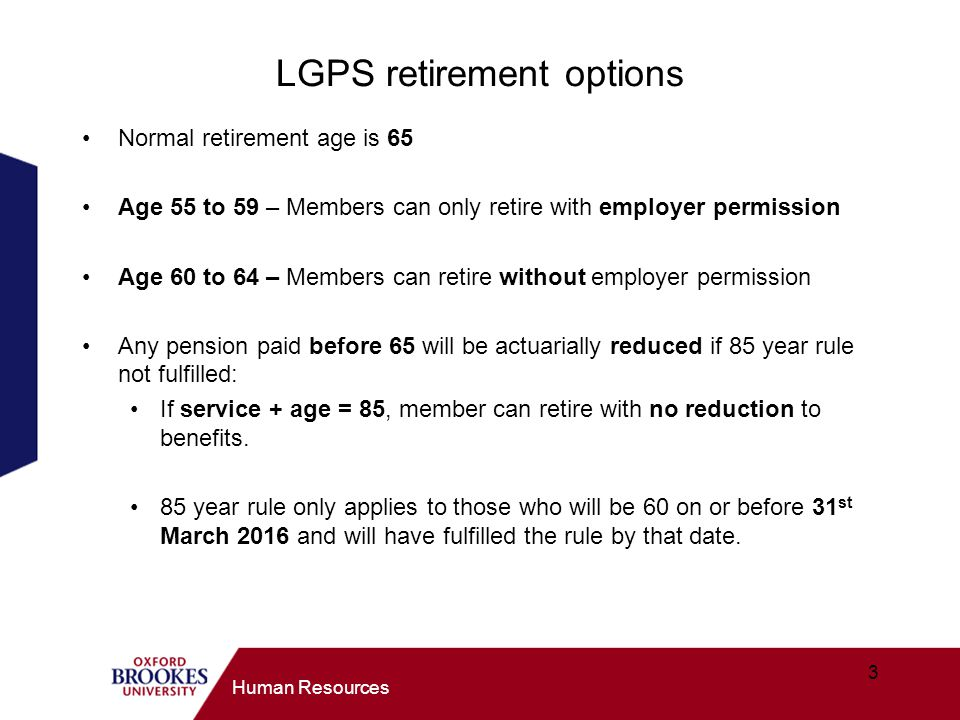 LGPS retirement options