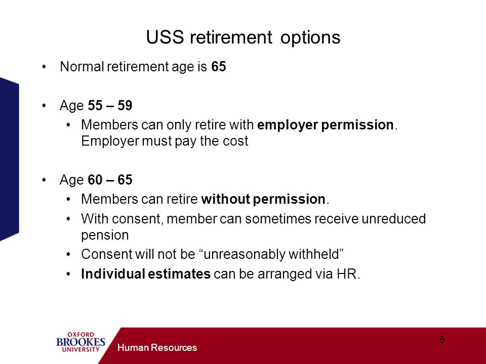USS retirement options