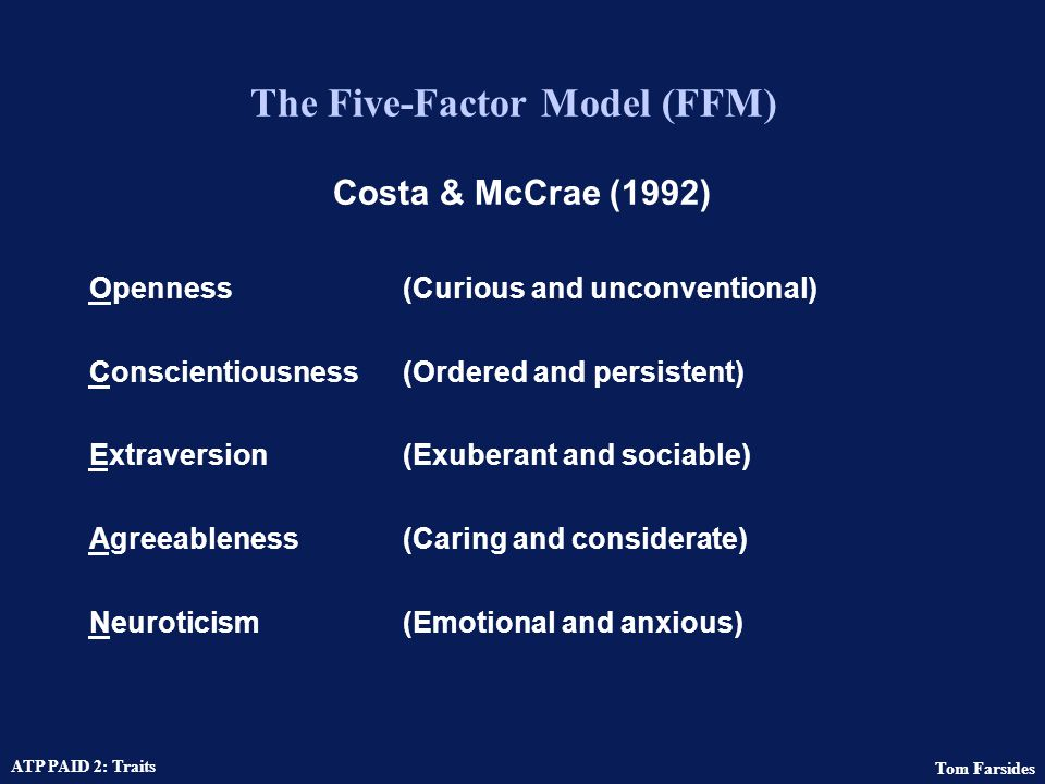 The Five-Factor Model (FFM)