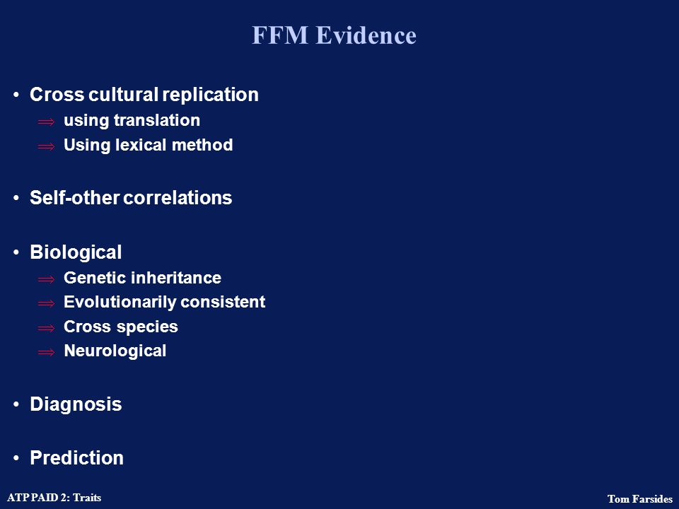 FFM Evidence Cross cultural replication Self-other correlations