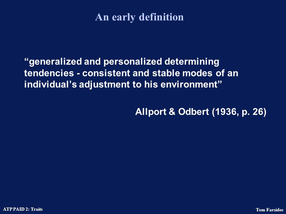 An early definition
