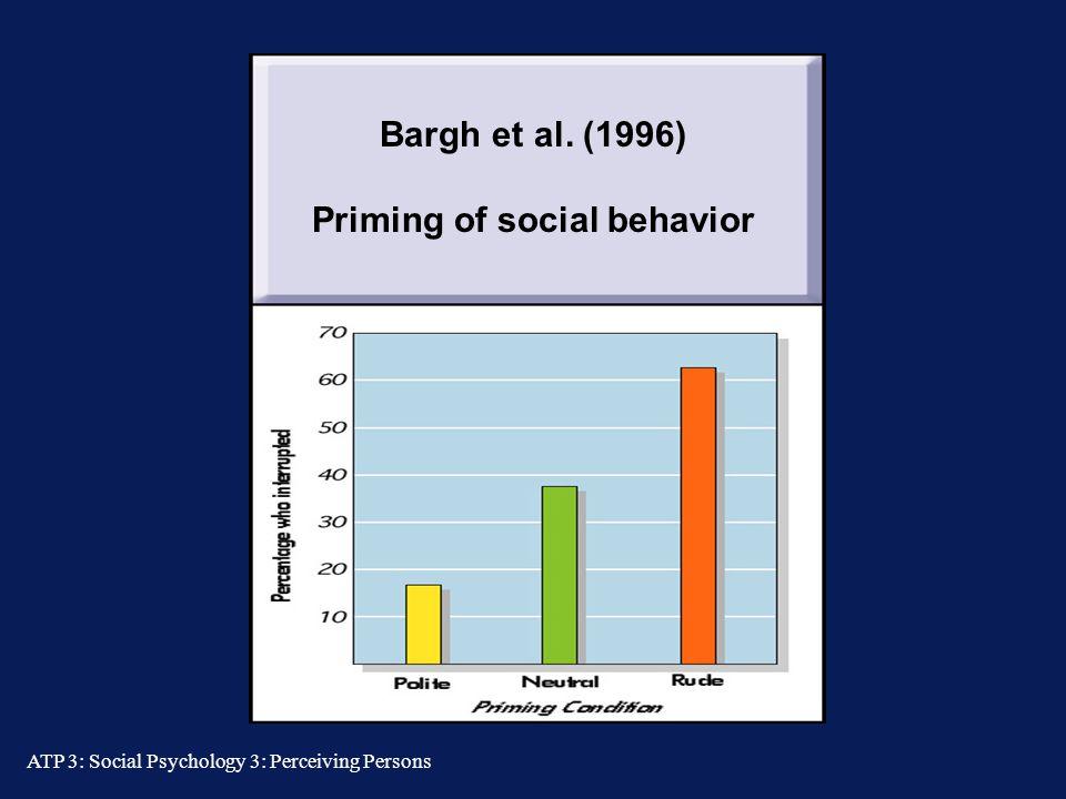 Priming of social behavior