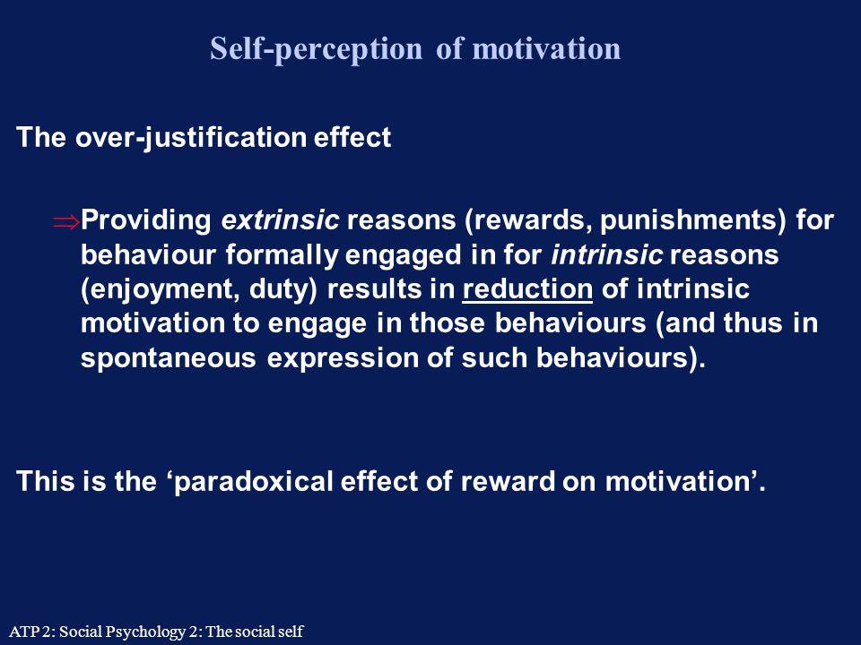 Self-perception of motivation