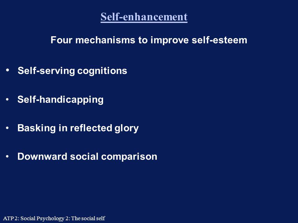 Four mechanisms to improve self-esteem