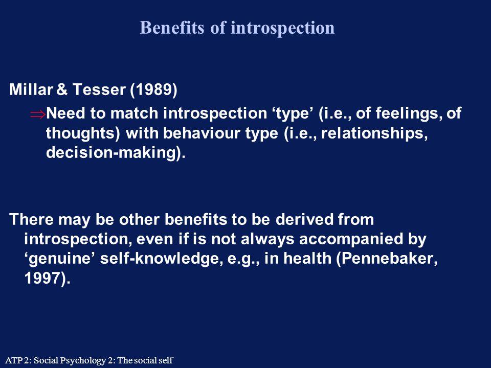 Benefits of introspection