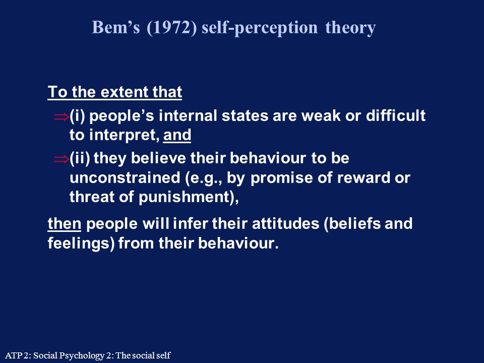 Bem's (1972) self-perception theory