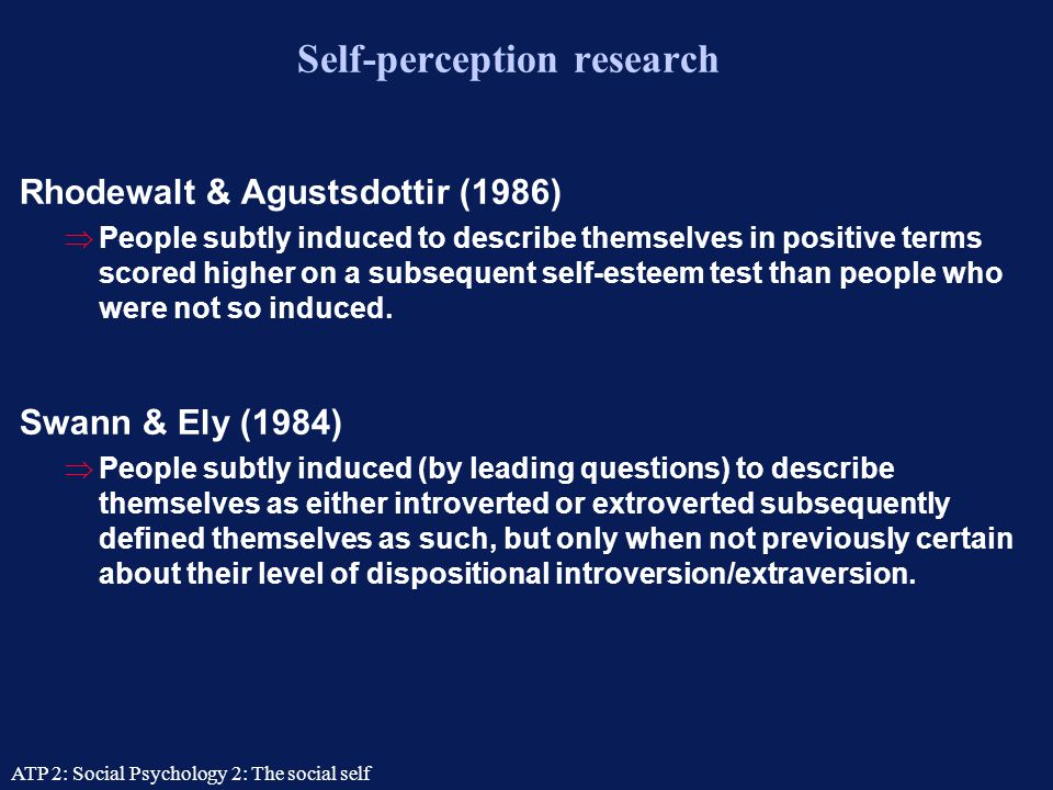 Self-perception research