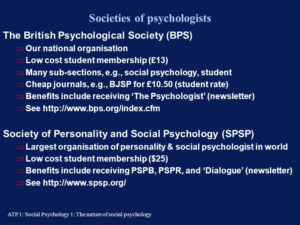 Societies of psychologists