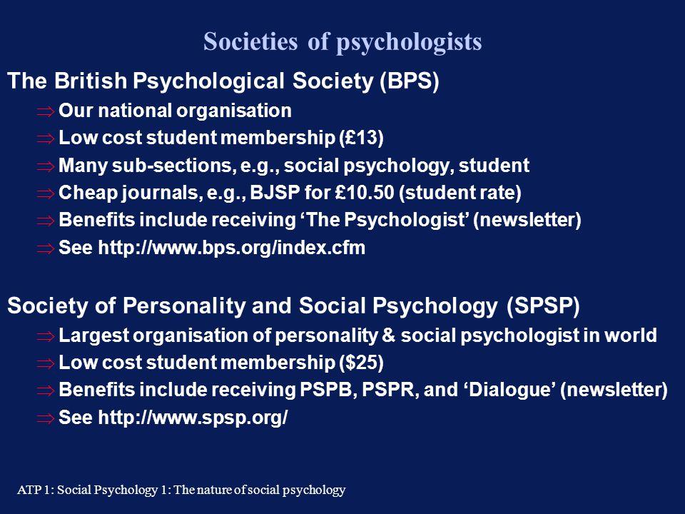 Societies of psychologists