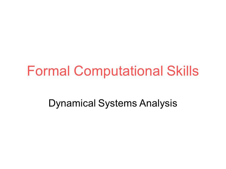 Formal Computational Skills