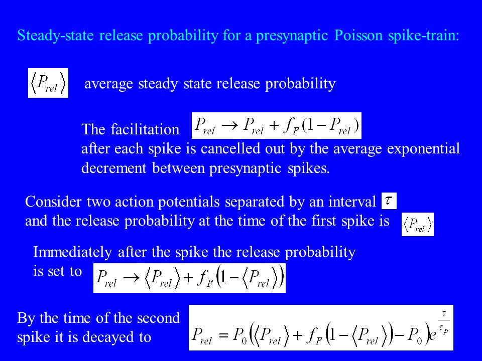Steady-state release probability for a presynaptic Poisson spike-train: