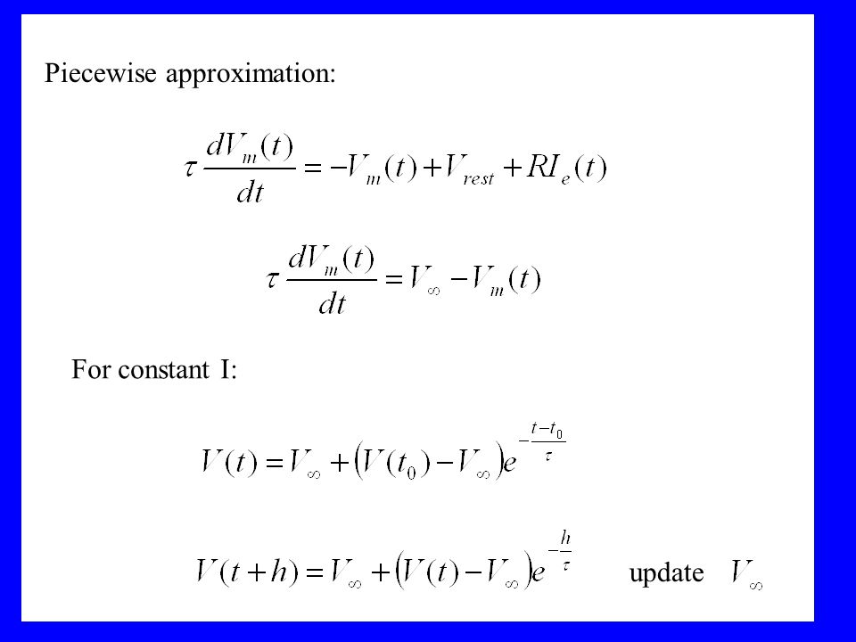Piecewise approximation: