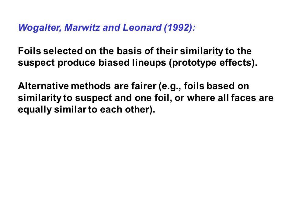 Wogalter, Marwitz and Leonard (1992):