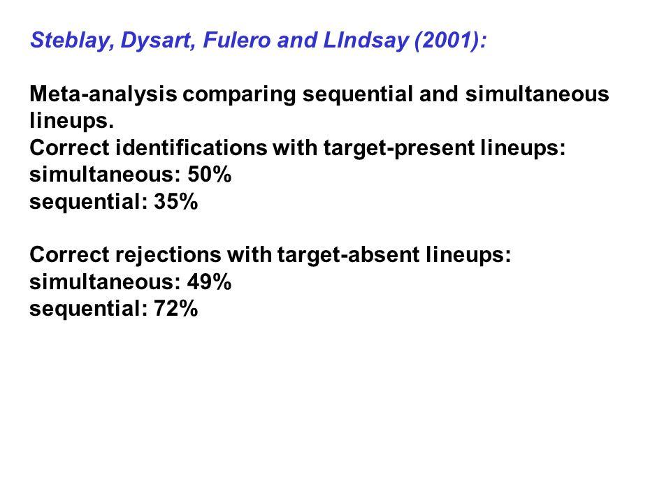 Steblay, Dysart, Fulero and LIndsay (2001):