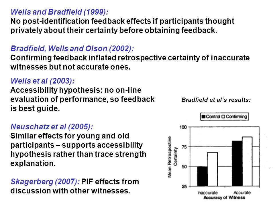 Wells and Bradfield (1999):