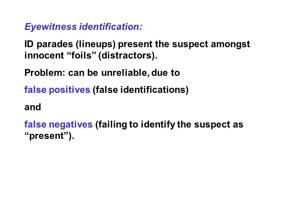 Eyewitness identification: