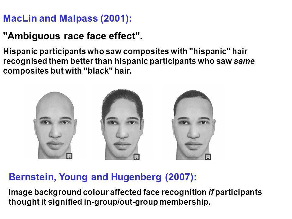 Ambiguous race face effect .