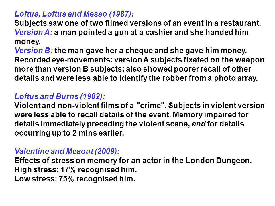Loftus, Loftus and Messo (1987):
