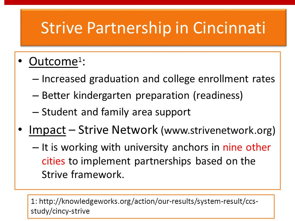 Strive Partnership in Cincinnati